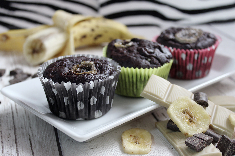 Schoko-Bananen-Muffins | Vegan, einfach & lecker