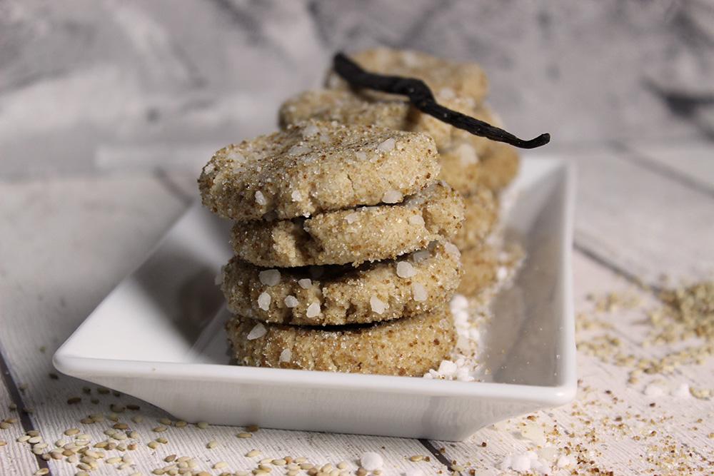 Sesam-Vanille-Kekse