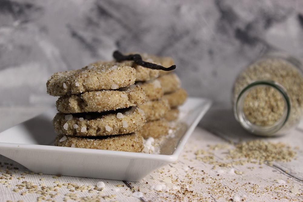 Sesam-Vanille-Kekse | Ohne Palmöl, vegan