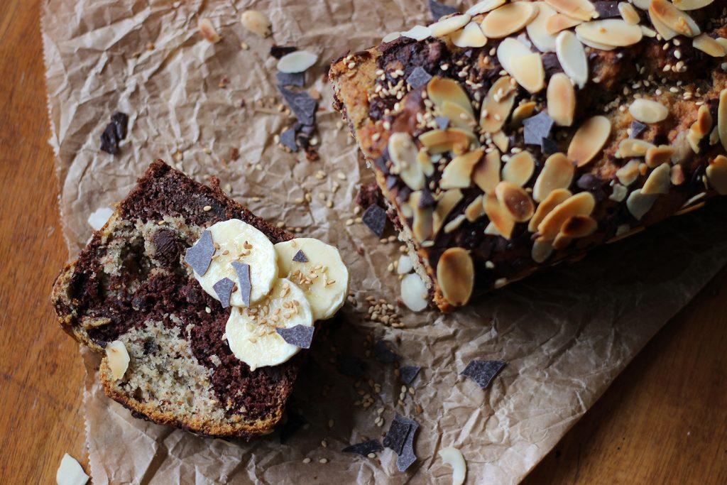 veganes Marmor-Bananenbrot